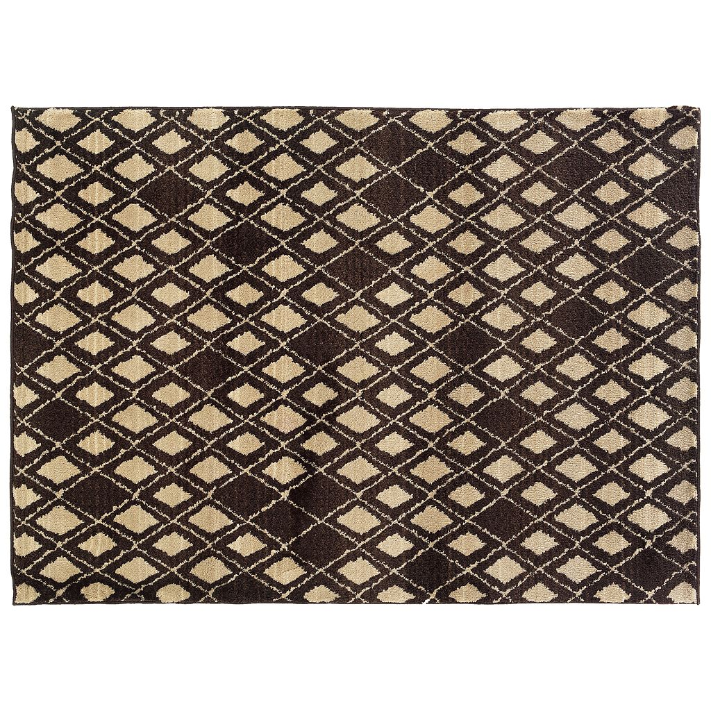 Oriental Weavers Marrakesh Diamond Geometric Shag Rug