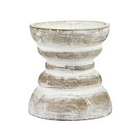 Stonebriar Collection Small Beach House Pillar Candleholder