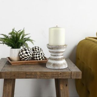 Stonebriar Collection Small Beach House Pillar Candleholder