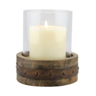 Stonebriar Collection Small Rustic Pillar Candleholder