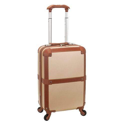 Rockland Stage Coach 20-Inch Hardside Spinner Neutral Carry-On Luggage