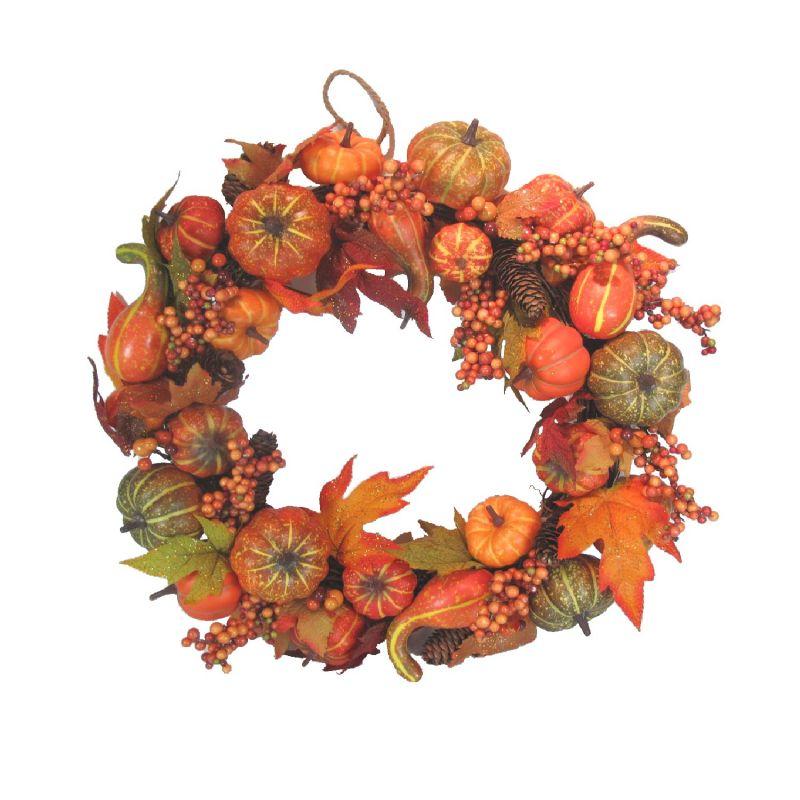 Pumpkin Wreath (Natural/Pumpkin)