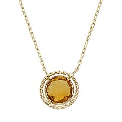 Citrine 14k Gold Necklace