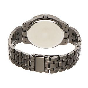 Folio Men's Faux Multi-Function Gunmetal Watch