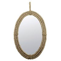 Stonebriar Collection Rope Oblong Wall Mirror