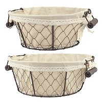 Stonebriar Collection 2 pc Basket Set