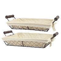 Stonebriar Collection 2-piece Wire Basket Set