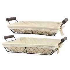 Stonebriar Collection 2 pc Wire Basket Set