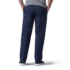 Men's Lee Performance Series Extreme Comfort Khaki Straight-Fit Flat-Front Pants