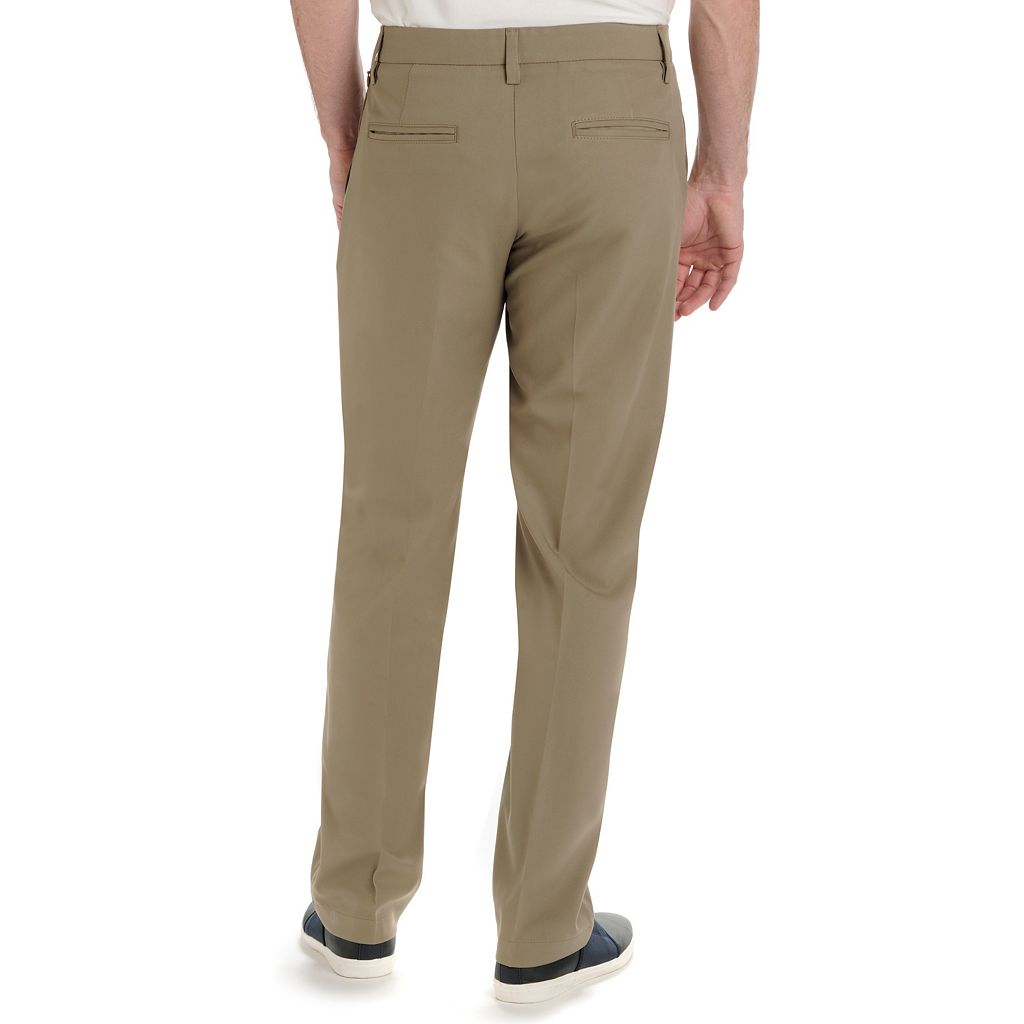 Men's Lee Performance Series Chino Straight-Fit Stretch Flat-Front Pants