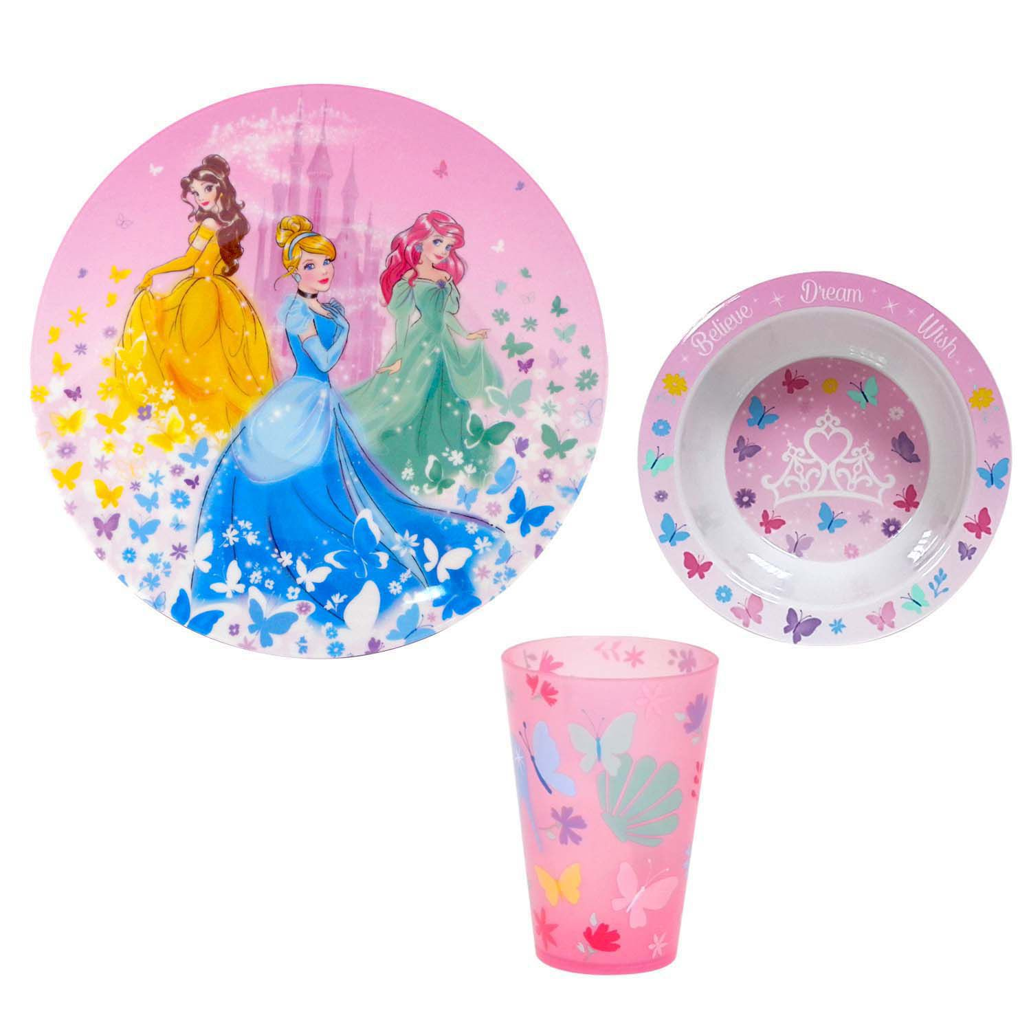 sc 1 st  Kohlu0027s & Disney Princess 3-pc. Kidu0027s Dinnerware Set by Jumping Beans®