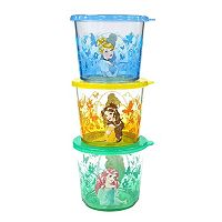 Disney Princess 3 pc Kid's Melamine Snack Container Set by Jumping Beans®