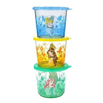 Disney Princess 3-pc. Kid's Melamine Snack Container Set by Jumping Beans®