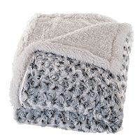 Portsmouth Home Flower Plush Sherpa Fleece Throw