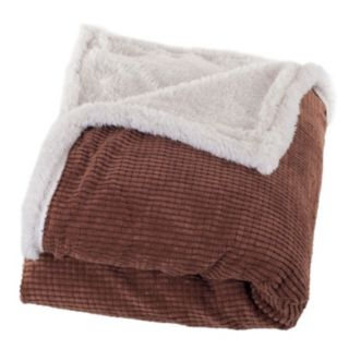 Portsmouth Home Plush Corduroy and Sherpa Throw