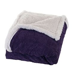 Portsmouth Home Plush Corduroy & Sherpa Throw
