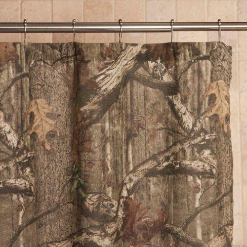 Hookless Brand Shower Curtain Mossy Oak Silverware