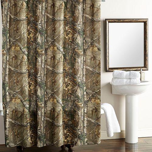 Camo Fabric Shower Curtain