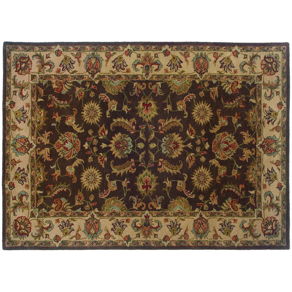 Oriental Weavers Windsor Floral Brown Wool Rug