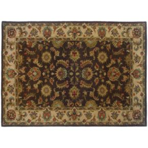 StyleHaven Walden Floral Brown Wool Rug