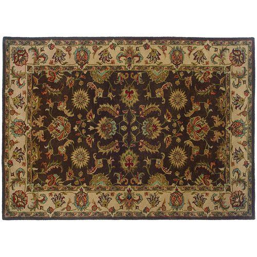 StyleHaven Walden Floral Brown Wool Rug