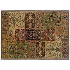 StyleHaven Windsor Floral Colorblock Wool Rug