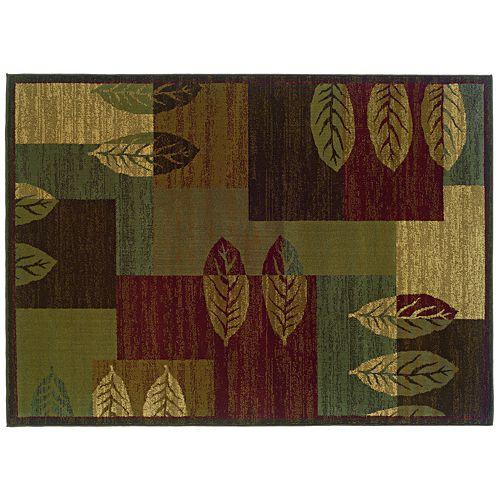 Oriental Weavers Tybee Leaf Block Rug