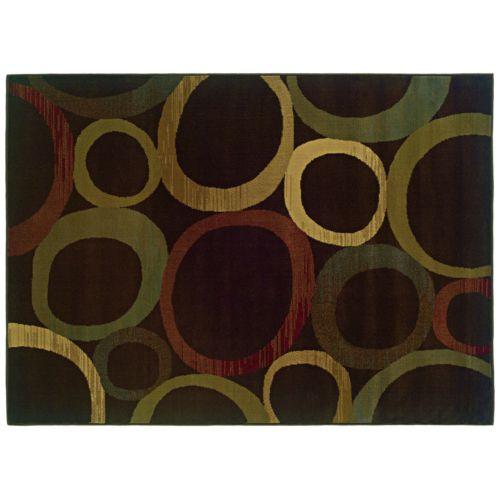 Oriental Weavers Tybee Abstract Circle Rug