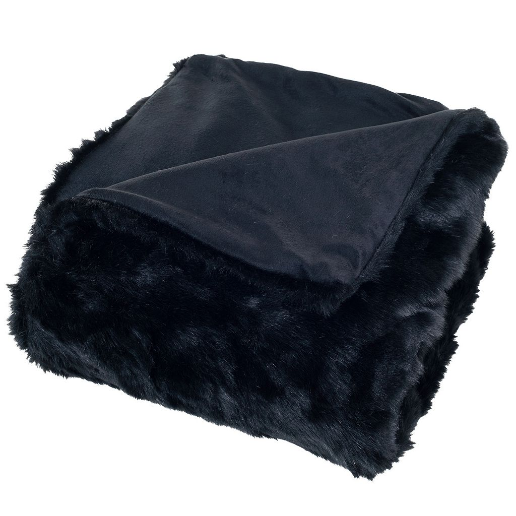 Portsmouth Home Luxury Faux-Fur Throw