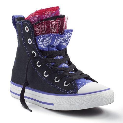 3ecb3ec0cd5 Kid s Converse Chuck Taylor All Star Party Multi-Tongue High-Top Sneakers