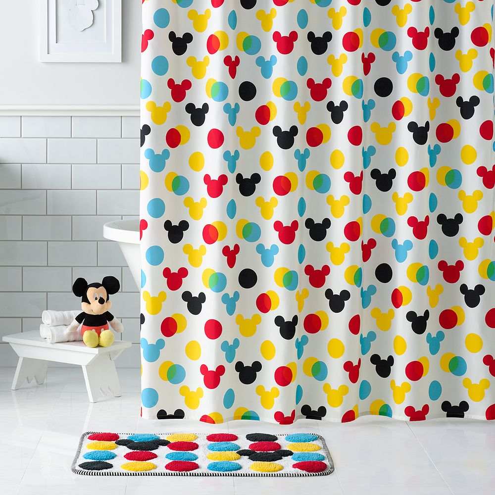 Bathroom sets for kids - Disney S Minnie Mickey Mouse Shower Curtain Collection By Jumping
