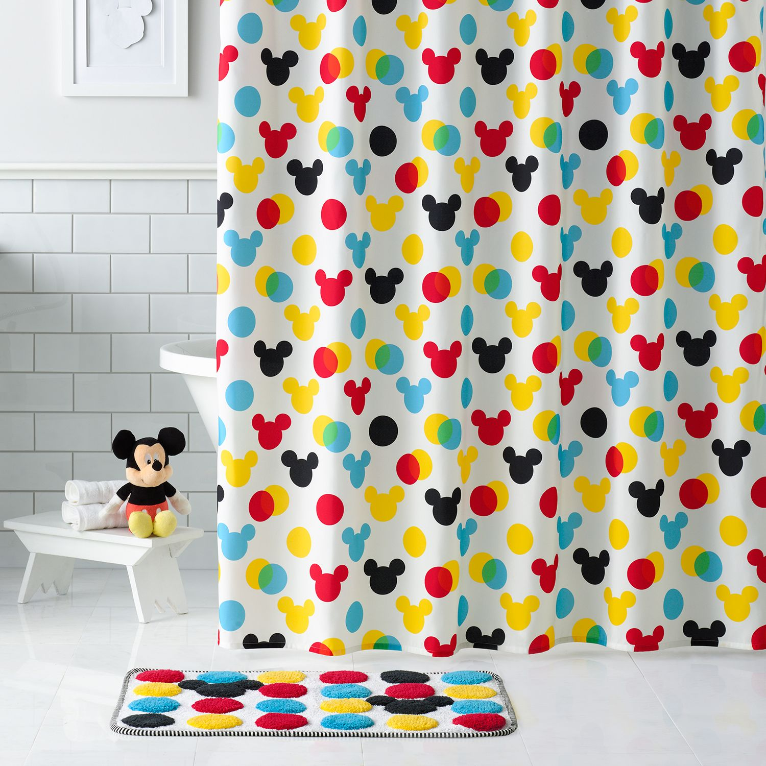 Marvelous Disneyu0027s Minnie U0026 Mickey Mouse Shower Curtain Collection By Jumping ... Within Kids Shower Curtain