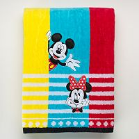 Disney's Mickey & Minnie Mouse Applique Bath Towel by Jumping Beans®