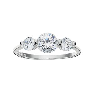 6f9c7be87 Cubic Zirconia Sterling Silver 3-Stone Promise Ring