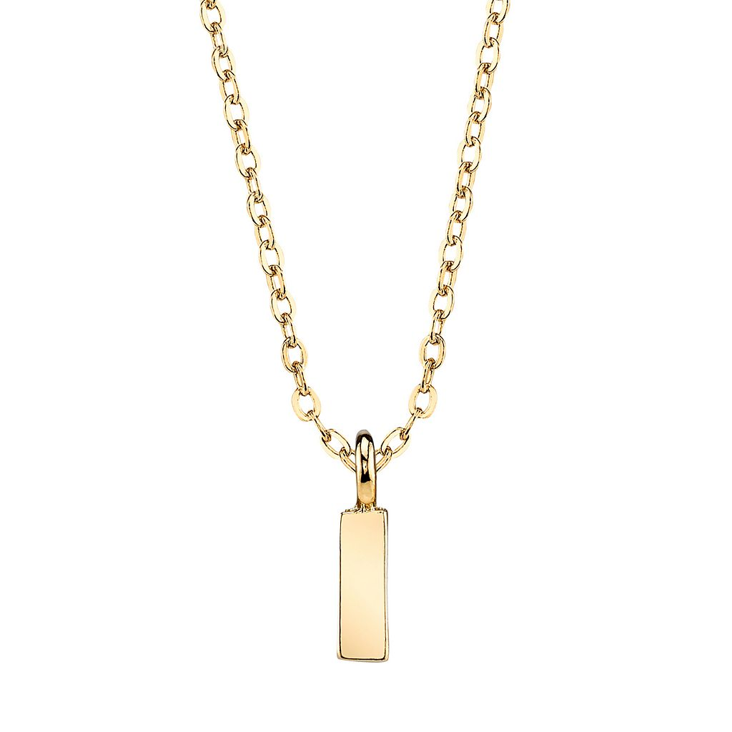 1928 Initial Pendant Necklace