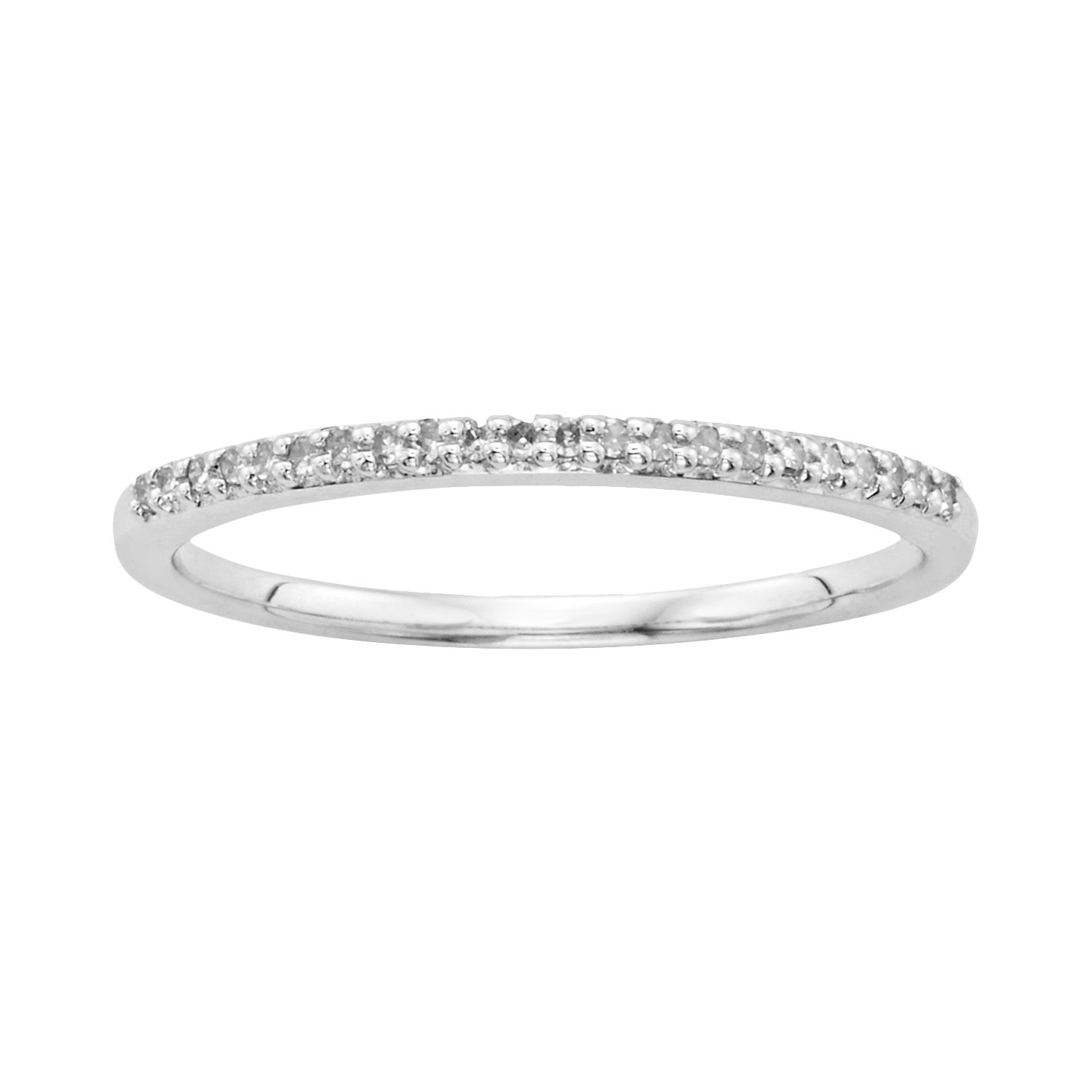 I Promise You 110 Carat TW Diamond Sterling Silver Wedding Ring