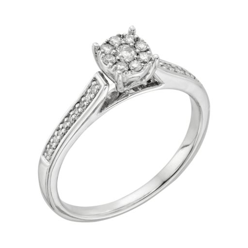 I Promise You Diamond Engagement Ring in Sterling Silver (1/4 Carat T.W.)