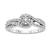 I Promise You Diamond Bypass Engagement Ring in Sterling Silver (1/3 Carat T.W.)