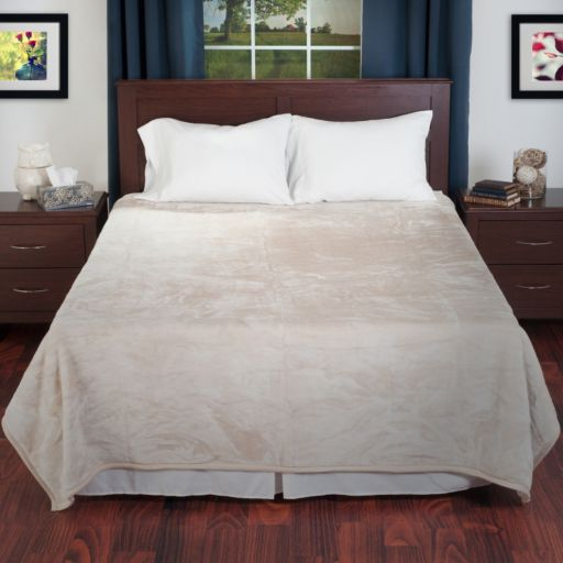 Portsmouth Home Solid Plush Faux-Mink Blanket - Twin