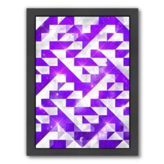 Americanflat Purple Geometric Framed Wall Art