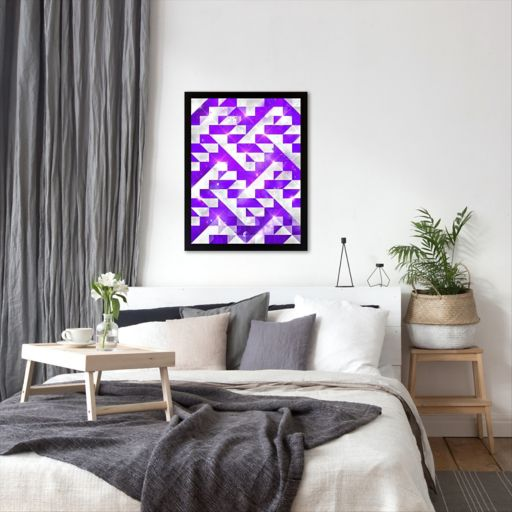 Americanflat Purple Geometric Framed Wall Art