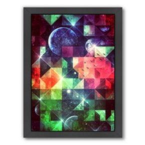 Americanflat Geometric Space Framed Wall Art