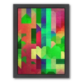 Americanflat Bright Geometric Framed Wall Art