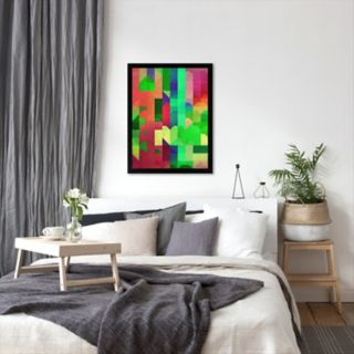 Americanflat Bright Geometric Framed Wall Art