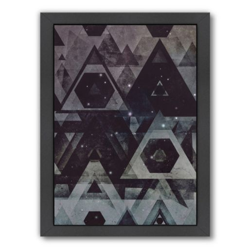 Americanflat Stars Geometric Framed Wall Art