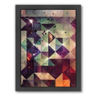 Americanflat Space Geometric Framed Wall Art