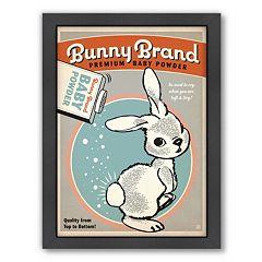 Americanflat 'Bunny Brand' Framed Wall Art