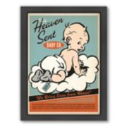 "Americanflat ""Heaven Sent"" Baby Boy Framed Wall Art"