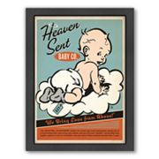 Americanflat 'Heaven Sent' Baby Boy Framed Wall Art