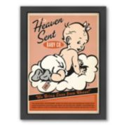 "Americanflat ""Heaven Sent"" Baby Girl Framed Wall Art"